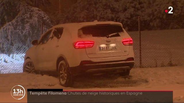 Filomena : la tempête de neige sème le chaos en Espagne
