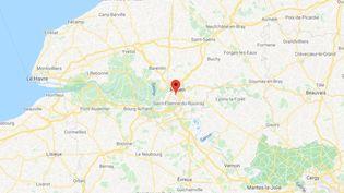 La commune de Sotteville-lès-Rouen en Seine-Maritime. (GOOGLE MAPS / FRANCETV INFO)