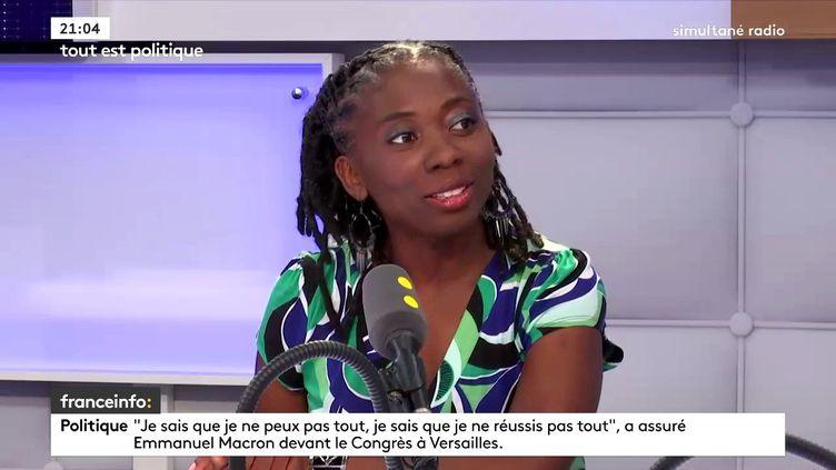 La députée LFI Danielle Obono sur franceinfo, le 9 juillet 2018. (FRANCEINFO / RADIOFRANCE)