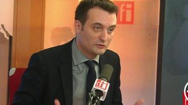 Florian Philippot rend hommage à Marine Le Pen