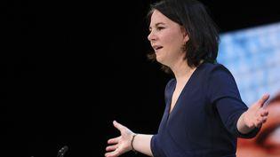 Annalena Baerbock candidate des Verts, à la chancellierie, en Allemagne. (ANNEGRET HILSE / POOL / AFP)