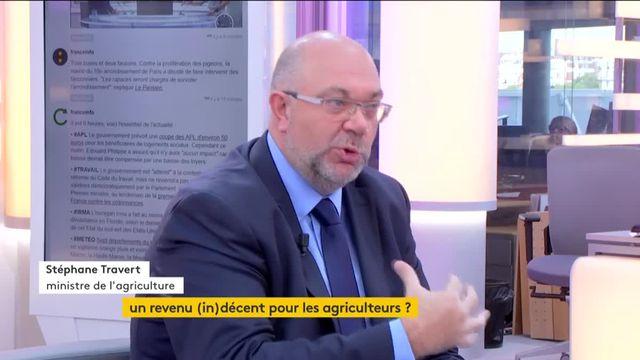 Invité de Jean-Paul Chapel, mercredi 13 septembre, Stéphane Travert, le ministre de l'Agriculture, a évoqué les principaux points pour améliorer la situation des agriculteurs français.