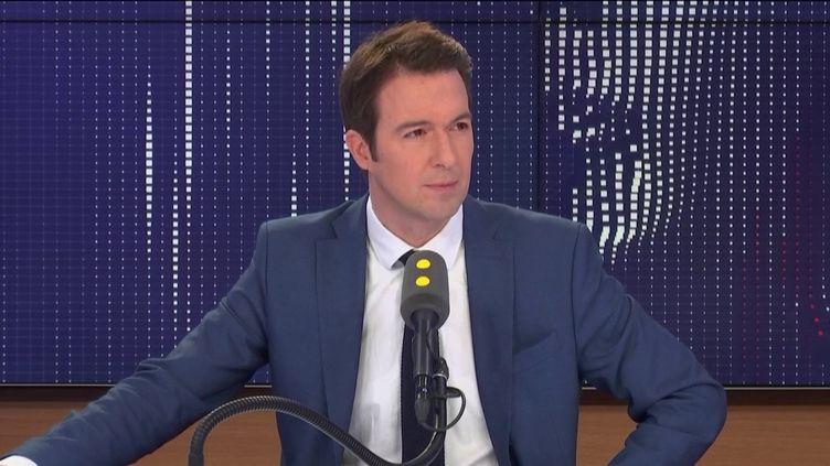 Guillaume Peltier, sur franceinfo, lundi 4 novembre. (FRANCEINFO / RADIOFRANCE)