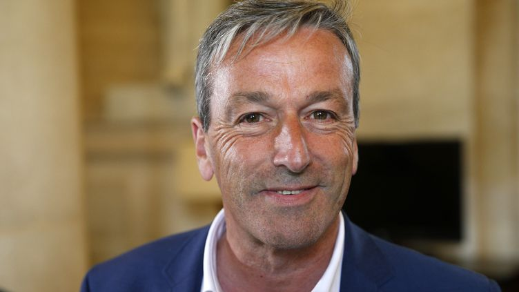 """Philippe Vigier, co-président du nouveau groupe de l'Assemblée nationale, """"Liberté et territoires"""". (GEOFFROY VAN DER HASSELT / AFP)"""