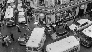 L'attentat contre le restaurantJo Goldenbergrue des Rosiers à Paris en 1982 a fait 6 morts et 22 blessés. (JACQUES DEMARTHON / AFP)