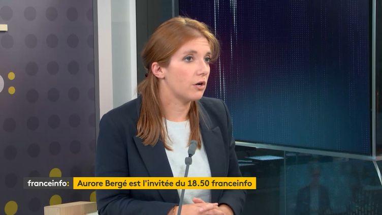Aurore Bergé, députée LREM des Yvelines, invitée du 18H50 franceinfo, lundi 28 septembre 2020. (RADIO FRANCE / FRANCEINFO)