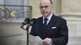Le ministre de l'Intérieur, Bernard Cazeneuve, s'exprime à l'Elysée, le 19 mars 2016. (ALAIN JOCARD / AFP)