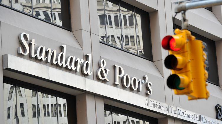 Le siège de l'agence de notation Standard & Poor's, à New York (Etats-Unis), le 6 août 2011. (STAN HONDA / AFP)