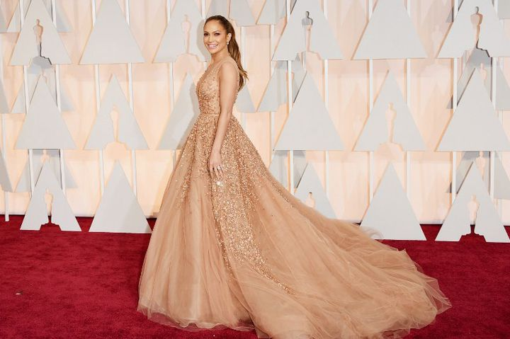 Jennifer Lopez aux Oscars 2015  (Jason Merritt / GETTY IMAGES NORTH AMERICA / AFP)