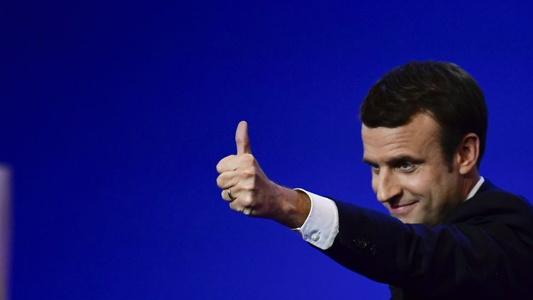 Emmanuel Macron, le 23 avril 2017 à Paris. (FRANCOIS PAULETTO / CITIZENSIDE / AFP)