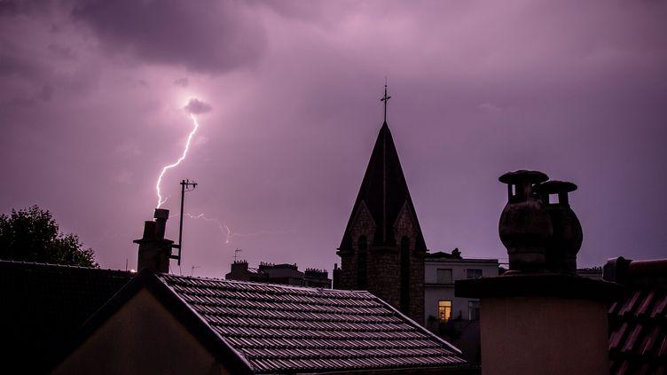 La Côte d'Or, le Doubs, le Jura, la Haute-Marne, laMeurthe-et-Moselle, la Meuse, la Moselle, la Haute-Saône, les Vosges et le Territoire de Belfort sont en alerte aux orages le 12 juin 2020. (MAXPPP)
