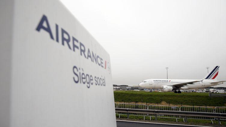 Le siège d'Air France à l'aéroport de Roissy-Charles-de-Gaulle (Val-d'Oise), le 5 octobre 2015. (KENZO TRIBOUILLARD / AFP)