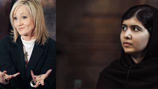 La romancière J.K Rowling (à gauche) et la militante Pakistanaise Malala pour le droit à l'éducation (à droite)  (AFP)