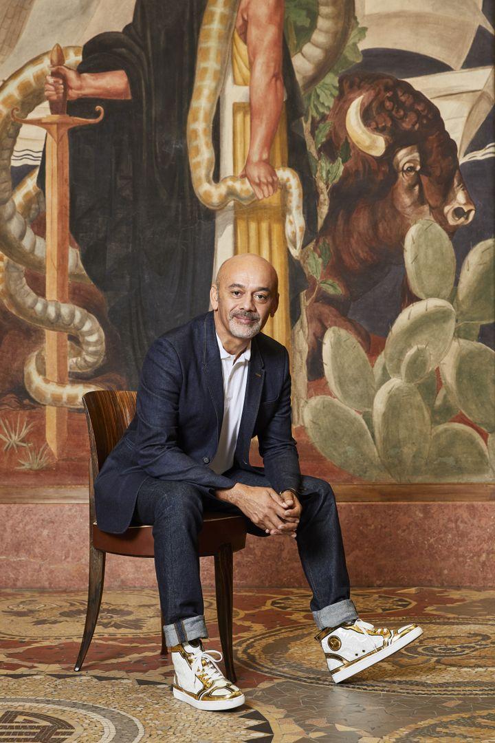 Le créateur de souliers Christian Louboutin au Palais de la Porte Dorée (SOPHIE LE GENDRE)