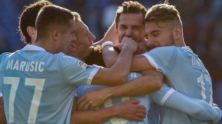 Les joueurs de la Lazio de Rome (SILVIA LORE / NURPHOTO)