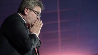 Jean-Luc Melenchonlors d'unmeetingà Pau, le 8 novembre 2018. (IROZ GAIZKA / AFP)