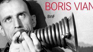 Exposition Boris Vian à la Bnf. Boris Vian et son « cor à gidouille », Paris, 11 octobre 1958  (Photo Ingi Paris / akg-images)