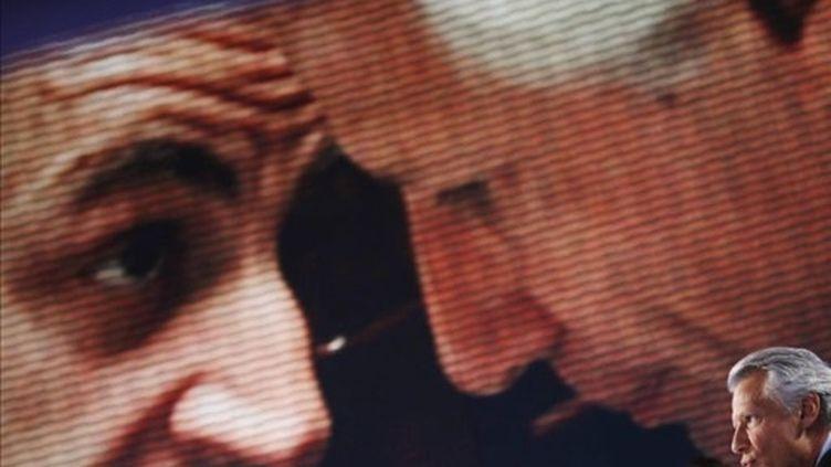 Dominique de Villepin et Nicolas Sarkozy se livrent, depuis des années, à une guerre politique (JOEL SAGET / AFP)