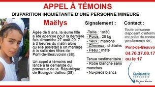 L'appel à témoins publié par la Gendarmerie nationale sur son compte Twitter, lundi 28 août. (GENDARMERIE NATIONALE)