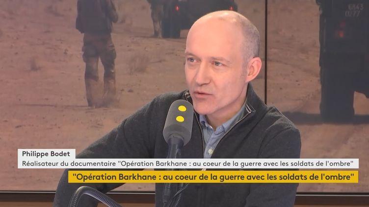"""Philippe Bodet, réalisateur du documentaire """"Opération Barkhane : au cœur de la guerre avec les soldats de l'ombre"""" (M6). Vendredi 15 février 2019 sur franceinfo. (FRANCEINFO / RADIOFRANCE)"""