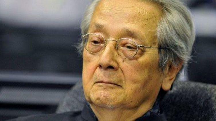 Jacques Vergès à Phnom Penh, le 21 novembre 2011, lors d'une session des Chambres extraordinaires au sein des tribunaux cambodgiens chargées de juger les dirigeants khmers rouges. L'avocat était le défenseur de Khieu Samphan, chef de l'Etat khmer rouge (1975-1979). (AFP - HO-ECCC-Mark Peters)