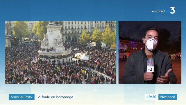 Samuel Paty : la foule en hommage à Paris et à Nîmes