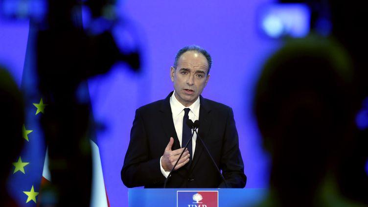 Jean-François Copé, le président de l'UMP, le 3 mars 2014 au siège de son parti, à Paris. (THOMAS SAMSON / AFP)