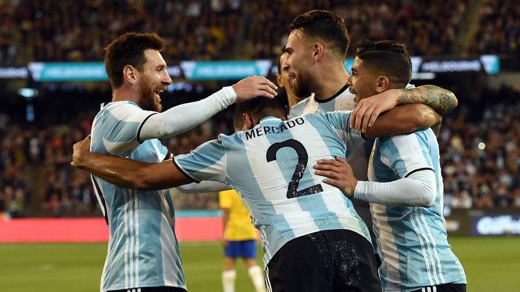 La joie des joueurs de l'Argentine (SAEED KHAN / AFP)
