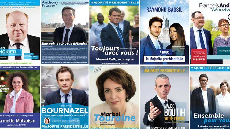 """De nombreux candidats aux législatives se présentent sous l'étiquette """"majorité présidentielle"""" sans avoir été investis par La République en marche. (DR)"""