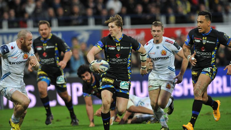 Clermont contre Exeter au Stade Marcel-Michelin (THIERRY ZOCCOLAN / AFP)