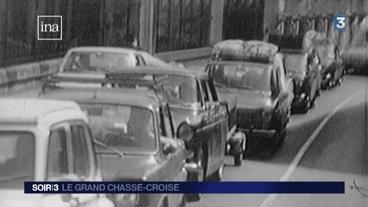 """Capture d'écran du sujet """"Le grand chassé-croisé"""" diffusé le 1/08/14 au Soir 3"""