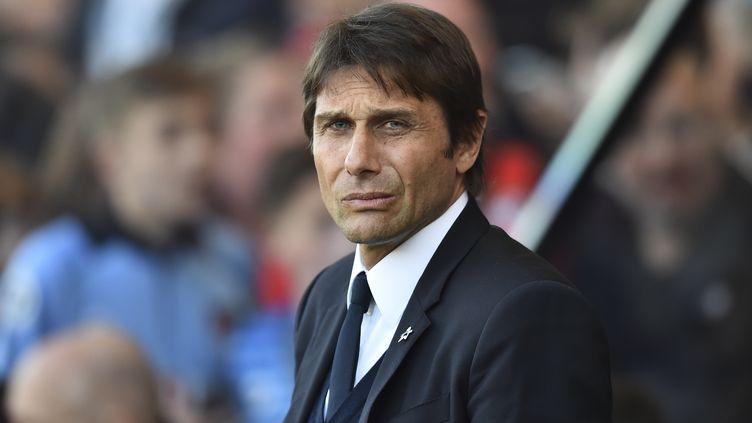 Antonio Conte se félicite de l'arrivée de Morata chez les Blues (GLYN KIRK / AFP)