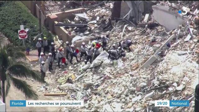 Effondrement d'un immeuble en Floride : les recherches se poursuivent