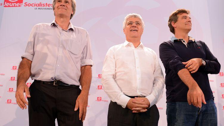 Le ministre de l'Agriculture, Stéphane Le Foll, et le ministre de l'Ecologie, Philippe Martin, le 23 août 2013 à La Rochelle (Charente-Maritime). (ALAIN JOCARD / AFP)