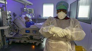 L'unité de réanimation Covid-19 de l'Hôpital Européen de Marseille le 8 septembre 2020. (F SPEICH / MAXPPP)