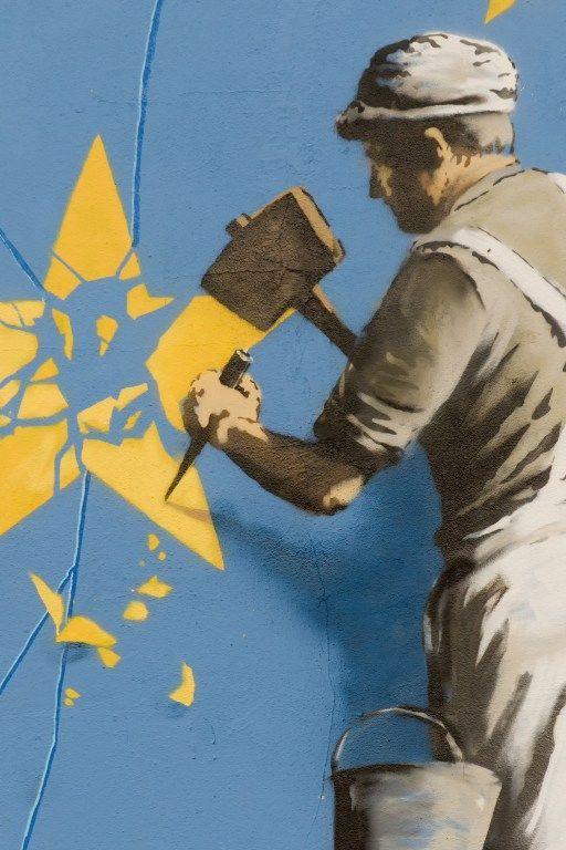 Banksy : frersque sur le Brexit à Douvres - détail (mai 2017)  (CITIZENSIDE / Harry Steven Hadfiel / Citizenside)