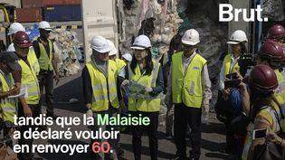 VIDEO. En Asie du Sud-Est, ils retournent les déchets plastiques à l'envoyeur (BRUT)
