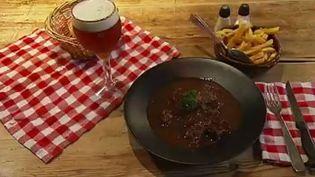 Une carbonade flamande, un plat gastronomique d'hiver français. (CAPTURE D'ÉCRAN FRANCE 2)