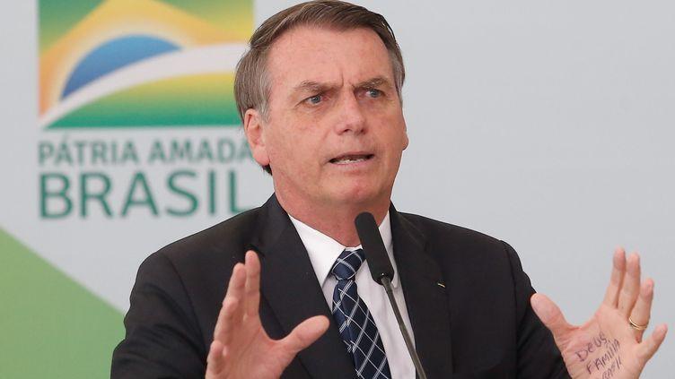 Le président brésilien Jair Bolsonaro, lors d'un déplacement à Brasilia, le 1er août 2019. (GABRIELA BILO)