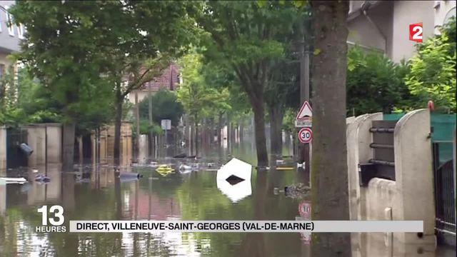 Inondations : Villeneuve-Saint-Georges est encore sous l'eau