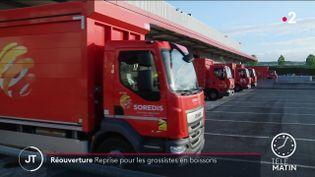Le grossiste en boissons Sorédis a repris son activité sur les chapeaux de roues (France 2)