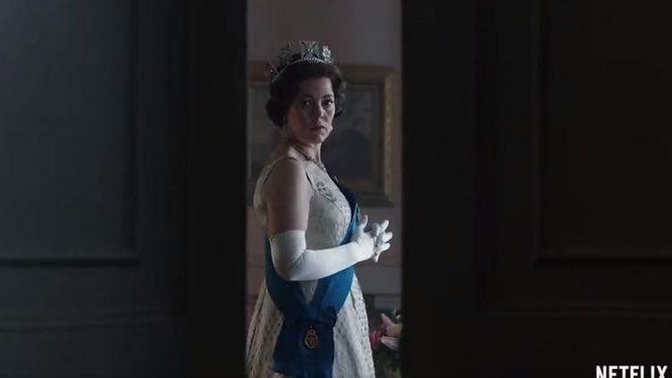 """Olivia Colman incarnera la reine Élizabeth II dans les saisons 3 et 4 de """"The Crown"""". (CAPTURE NETFLIX)"""