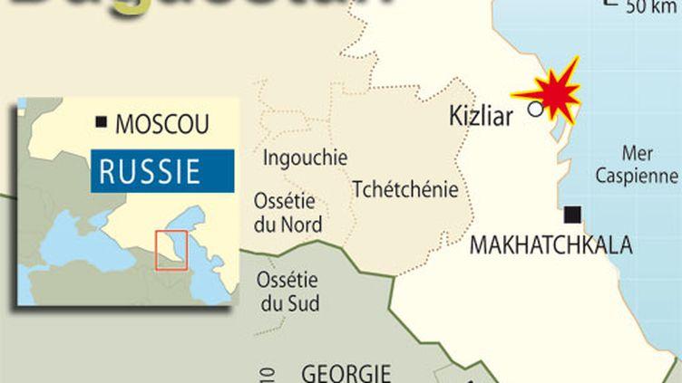 L'attentat a eu lieu dans la ville de Kizliar, au Daguestan, une république instable du Caucase russe. (AFP)