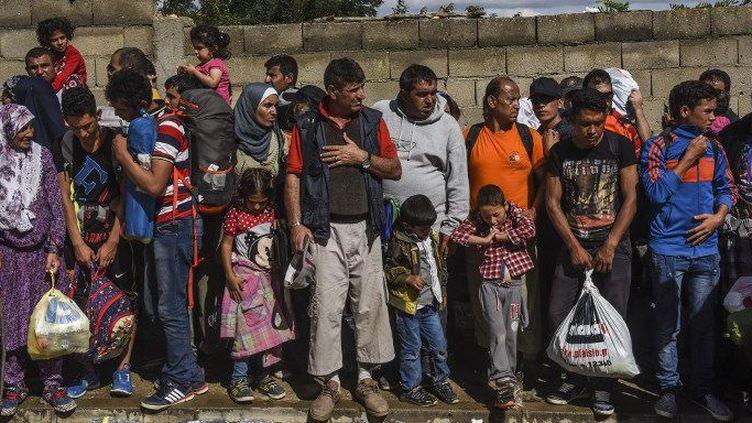 Des réfugiés syriens près de la frontière serbe en septembre 2015. (AFP/ Armenid Nimani)