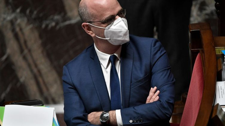 Le ministre de l'Education nationale, Jean-Michel Blanquer, à l'assemblée nationale, à Paris, le 19 janvier 2021. (STEPHANE DE SAKUTIN / AFP)