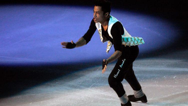 Florent Amodio lors du trophée Eric Bompard en 2011. (BERTRAND GUAY / AFP)