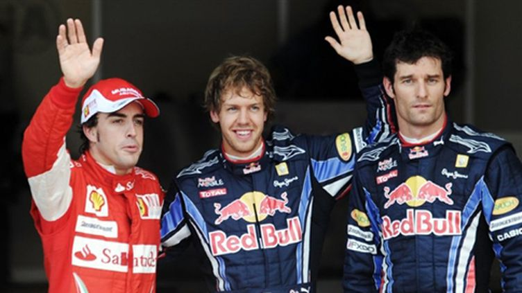 Sebastian Vettel, Mark Webber et Fernando Alonso occupent les trois premières places de la grille