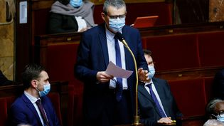 Xavier Breton, à l'Assemblée nationale, le 8 décembre 2020, à Paris. (THOMAS SAMSON / AFP)