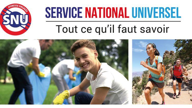 Capture d'écran de la bannière illustrant le site internet du Service national universel le 19 juin 2019. (SERVICE NATIONAL UNIVERSEL / JEUNES.GOUV.FR / MINISTERE DE L'EDUCATION NATIONALE)