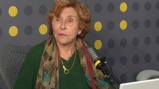 Edith Cresson, sur franceinfo, le 15 mai 2021. (FRANCEINFO / RADIOFRANCE)